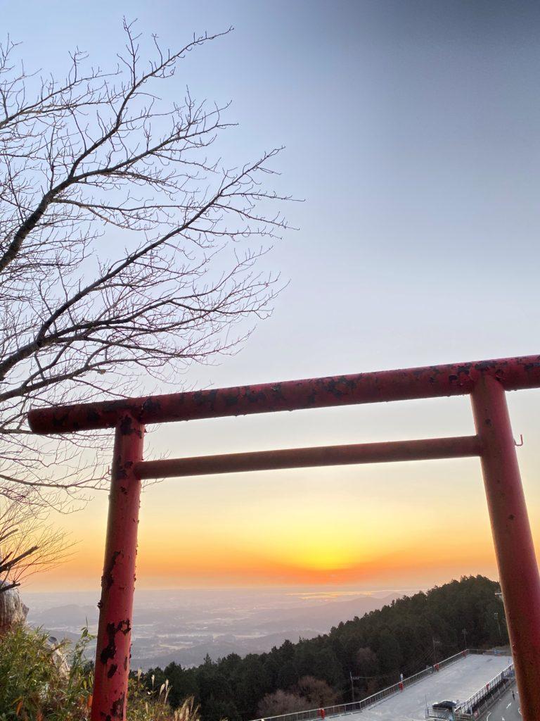 筑波山 日の出