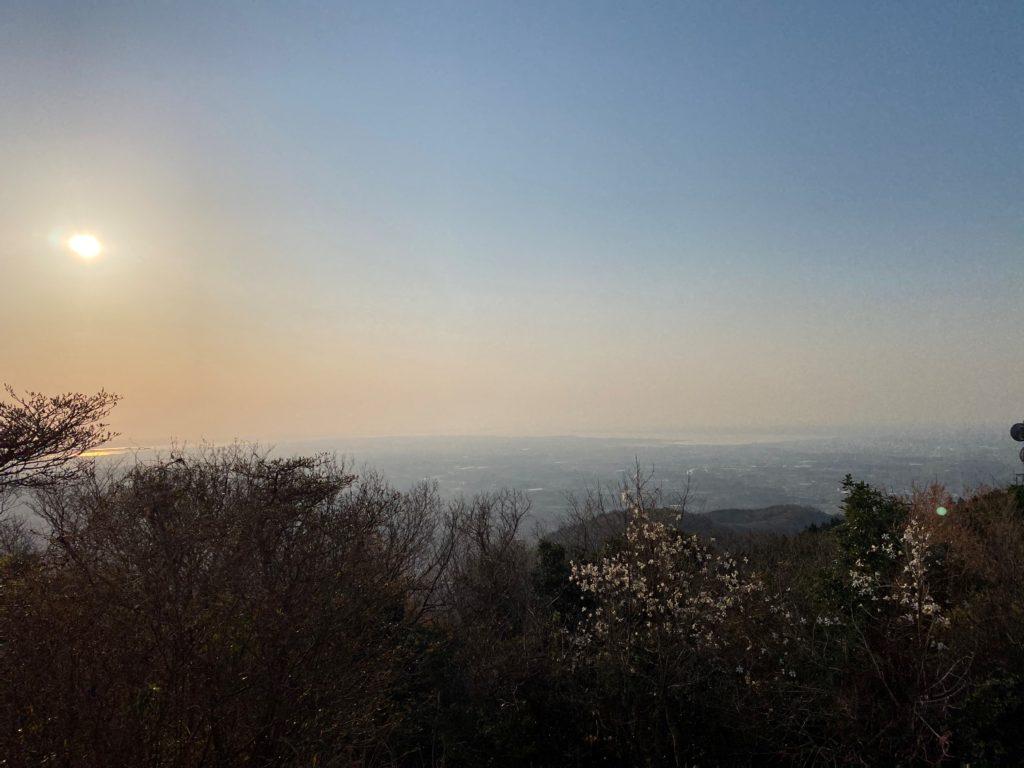 宝篋山 頂上から見た景色